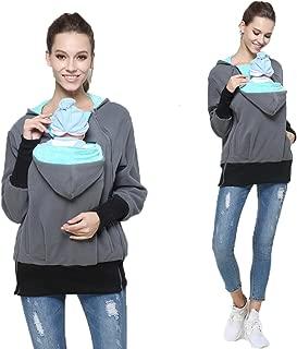 Womens Maternity Kangaroo Hooded Sweatshirt for Baby Carriers