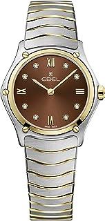 EBEL Ladies 1216445A Sport Classic 18K Gold & Steel Swiss Quartz Watch