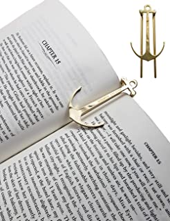 ClasicHomie Wisdom Page Anchor Book Page Holder,Clips,Bookmark,Holds Book Open (Gold)