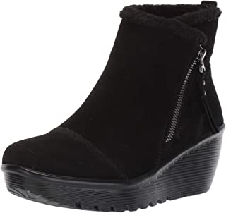 Women's Parallel-Zip Up Wedge Casual Comfort Ankle Boot Fashion