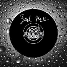 Zach Hyman 2017 Centennial Classic Autographed Puck Toronto Maple Leafs
