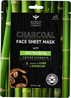Bombay Shaving Company Charcoal Face Sheet Mask For Easy At-Home Skin Restoration