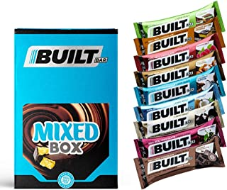 Built Bar 18 Pack Protein and Energy Bars - 100% Real Chocolate - High Protein, Whey and Fiber - Low Carb, Low Calorie, Lo...