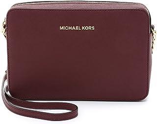 Michael Kors Jet Set Large East West Leather Crossbody Bag in Merlot
