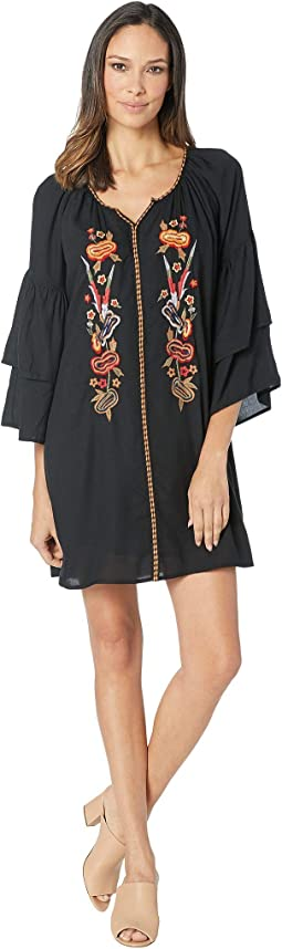 Western Fashion Bell Sleeve Dress