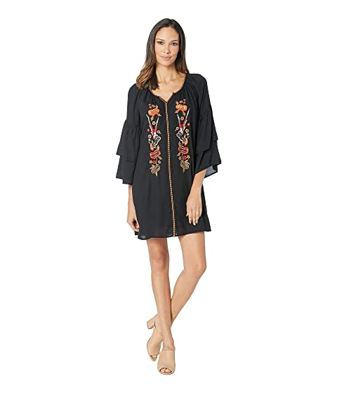 4b989df9146 Wrangler Western Fashion Bell Sleeve Dress at Zappos.com
