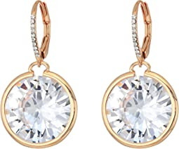 Betsey Johnson - Blue by Betsey Johnson Large CZ Stone Drop with Crystal Accents and Rose Gold Tone Details Earrings