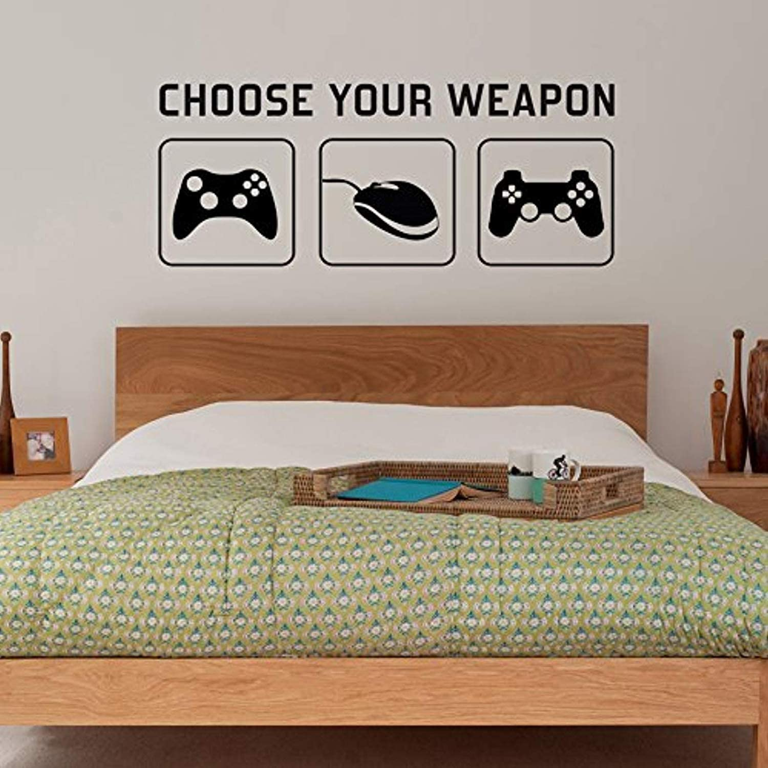 Amazon Com Wall Vinyl Decal Ra Choose Your Weapon Video Game Gaming Sticker Mural Kids Children Teenager Teens Bedroom Man Cave Room Art Ideas Canvas Home Decor Hds7817 Kitchen