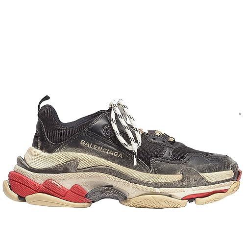 b3e93b15a881e1 Balenciaga Men s   Women s Vintage Triple S Trainers Fashion Sneakers Black  ...