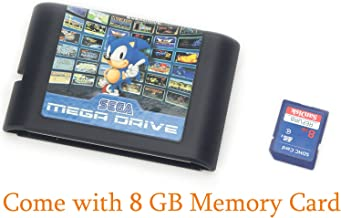 820 in 1 Hot Game Collection For Sega Genesis Mega Drive Console 16 bit Game Cartridge (Come with 8 GB Memory Card)