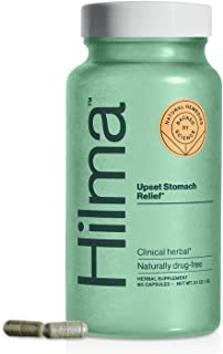 Natural Upset Stomach Relief by Hilma   Clinically Proven Ginger, Chamomile & Marshmallow Root   Occasional Indigestion & ...