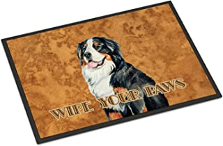 Caroline's Treasures LH9452MAT Bernese Mountain Dog Wipe Your Paws Indoor or Outdoor Mat 18x27, 18H X 27W, Multicolor