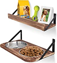 Emfogo Dog Bowls Customized Height Wall Mounted Elevated Pet Feeder with 2 Stainless Steel Dog or Cat Dishes and Storage S...