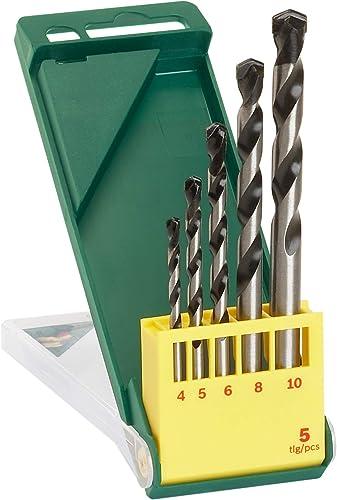 Bosch 5-Piece Concrete Drill Bit Set 4, 5, 6, 8, 10mm