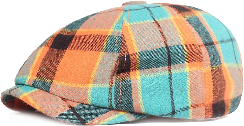 Women Octagonal Hats Plaid Newsboy Caps Gatsby Cap Beret Driving Hat Female Sunscreen Hats Painter Tour Cap Ladies