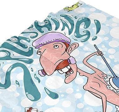 Nigel Thornberry Shower Curtain,Waterproof Decorative Bathroom Bath Curtains 72x72 Inch