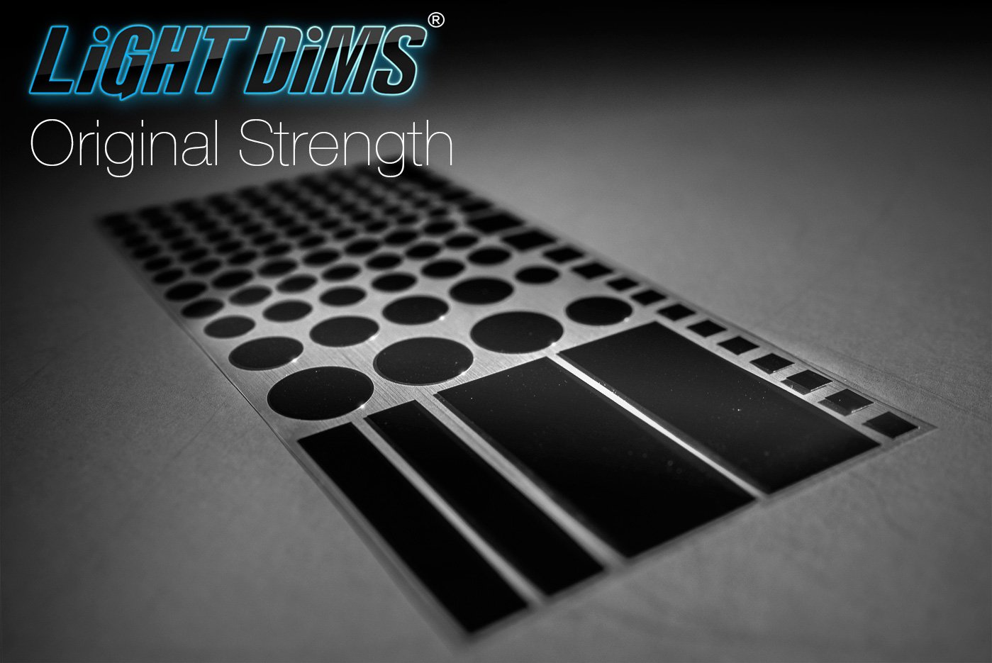 LightDims Original Strength - Light Dimming LED Covers and Light Dimming Sheets for Routers, Electronics and Appliances and More. Dims 50-80% of Light, in Minimal Packaging.