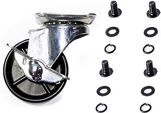 Dyna-Glo 105-04019 3-Inch Locking Swivel Caster with 4 Screws//Flat Washers//Spring Washers