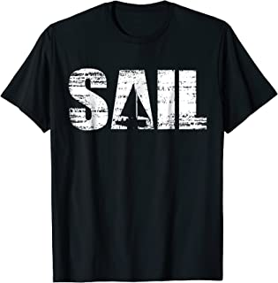 Cool distressed sailing t-shirt for sailors
