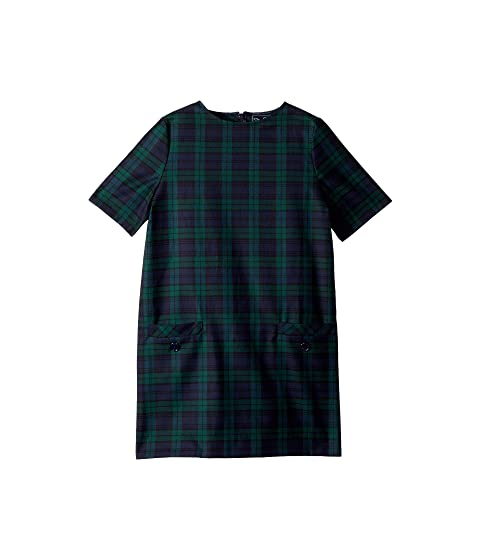 Oscar de la Renta Childrenswear Short Sleeve Shift Plaid Dress (Little Kids/Big Kids)
