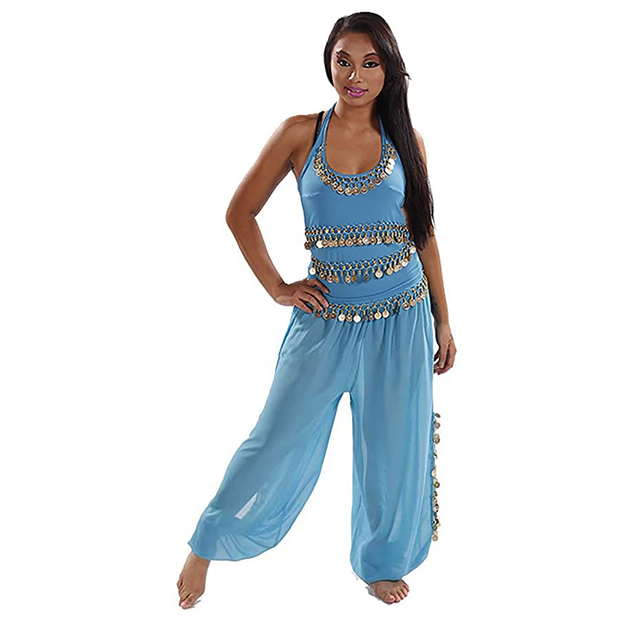 MissBellyDance Harem Pants & Halter Top Belly Dancer Costume Set | Sadiqa II - CS12