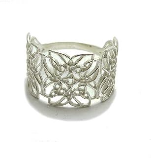 Anello celtico in argento 925 filigrana massiccio 925 R001777 Empress jewellery