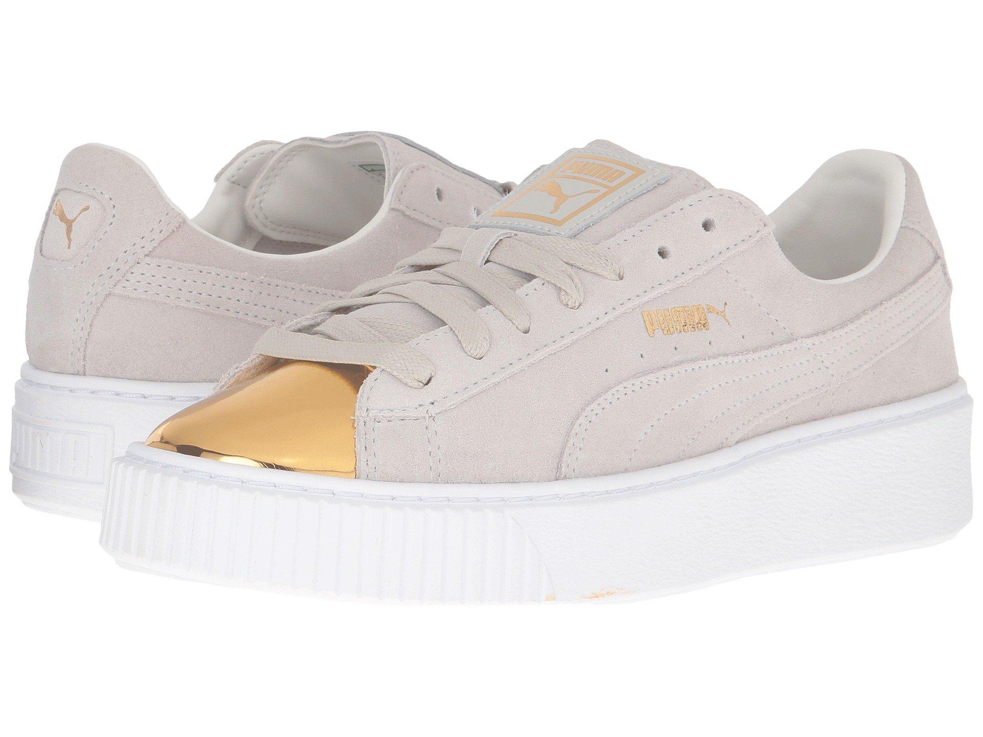 Puma Suede Platform Gold In Gold Star White  White  94425bcdf