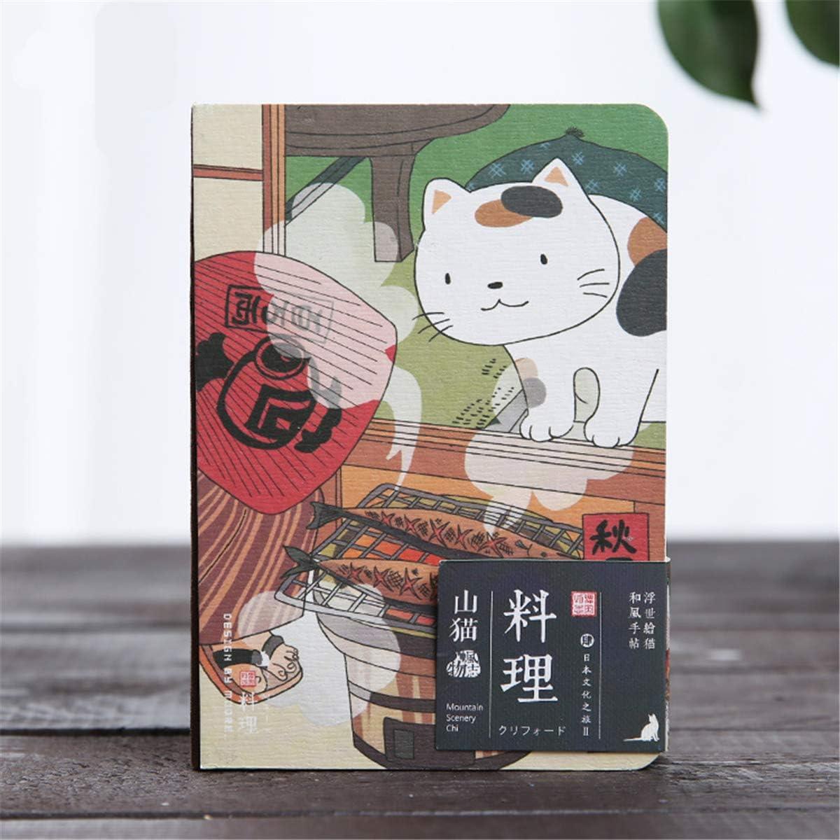 Couverture rigide Pour /écrire facilement et bien Carnet de notes avec motif chat japonais