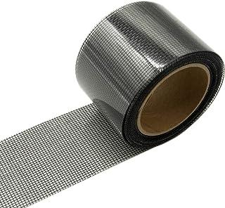 mciskin Kit de reparación de parches para puertas, ventanas, reparación, cinta de fibra de vidrio, malla de 3 capas, adhesivo fuerte y resistente al agua, (negro)
