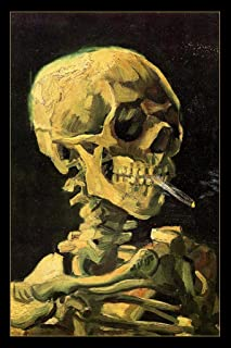 Vincent Van Gogh Skull of A Skeleton with Cigarette Art Print Mural Giant Poster 36x54 inch