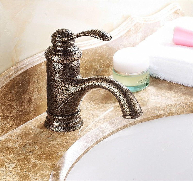 MNLMJ Moderne einfacheKupfer hei und kalt wasserhhne küchenarmatur Antike Badezimmer Wasserhahn unter aufsatzbecken Waschbecken heies und kaltes Wasser mischventilKupfer einlochmontage Waschbecken