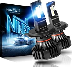 NINEO H4 9003 LED Headlight Bulbs CREE Chips,12000Lm 5090Lux 6500K Extremely Bright All-in-One Conversion Kit,360 Degree Adjustable Beam Angle