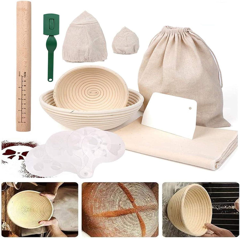 Round Bread Proofing Basket Deluxe Baking Includes Set 8.5 Under blast sales