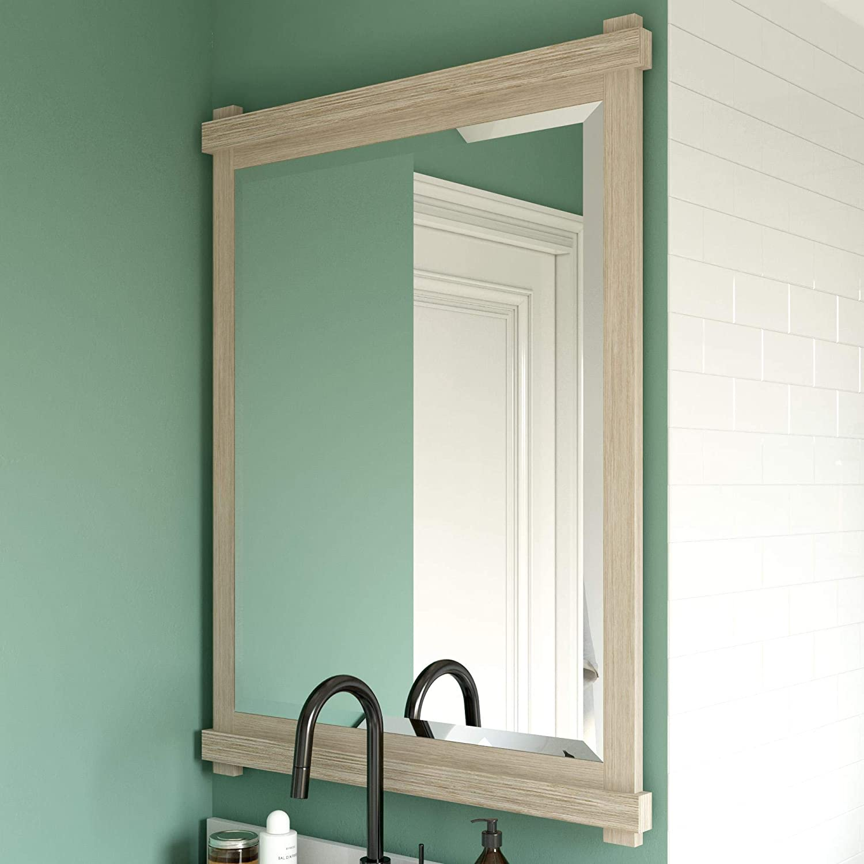 Dorel 激安価格と即納で通信販売 Living Sunnybrooke 30 バーゲンセール Inch White Bathroom Mirror Rustic