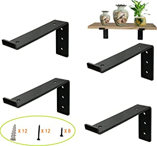 raw steel shelf brackets