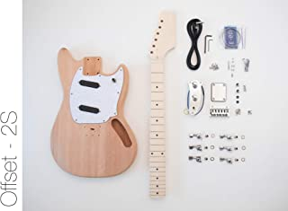 The FretWire DIY Electric Guitar Kit - Offset 2 Single Coil Build Your Own Guitar Kit