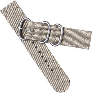 Correia de pulseira de relógio de 20 mm durável com 2 juntas de nylon pulseira de pulseira para substituição de relógio (c...