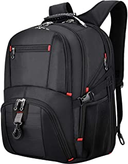 VBG VBIGER Travel Laptop Backpack College Computer Backpack with USB Charging Port Business Laptop Backpack for Men TSA Friendly Extra Large 45L Waterproof Casual Bookbags fit 17.3 inch Laptop