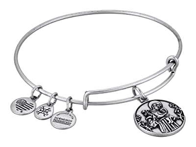Alex and Ani Saint Anthony II Bangle (Rafaelian Silver) Bracelet