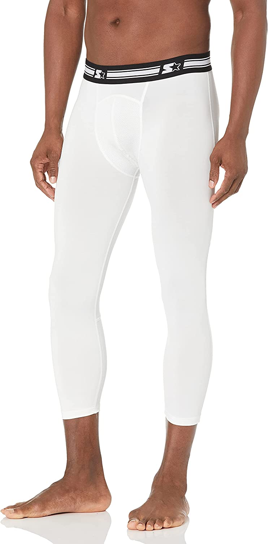 "Starter Men's 20"" Three-Quarter Length Compression Leggings,  Exclusive: Clothing"