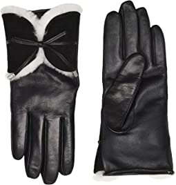 Combo Sheepskin Trim and Leather Tech Gloves