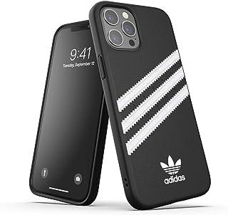 adidas Hülle Entwickelt für iPhone 12 Pro Max 6.7, Fallgeprüfte Hüllen, stoßfeste erhöhte Kanten, Original Formgegossene Schutzhülle, Schwarz / Weiß