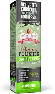 My Magic Mud - Activated Charcoal Toothpaste, Natural, Whitening, Detoxifying, Wintergreen, 4 oz.