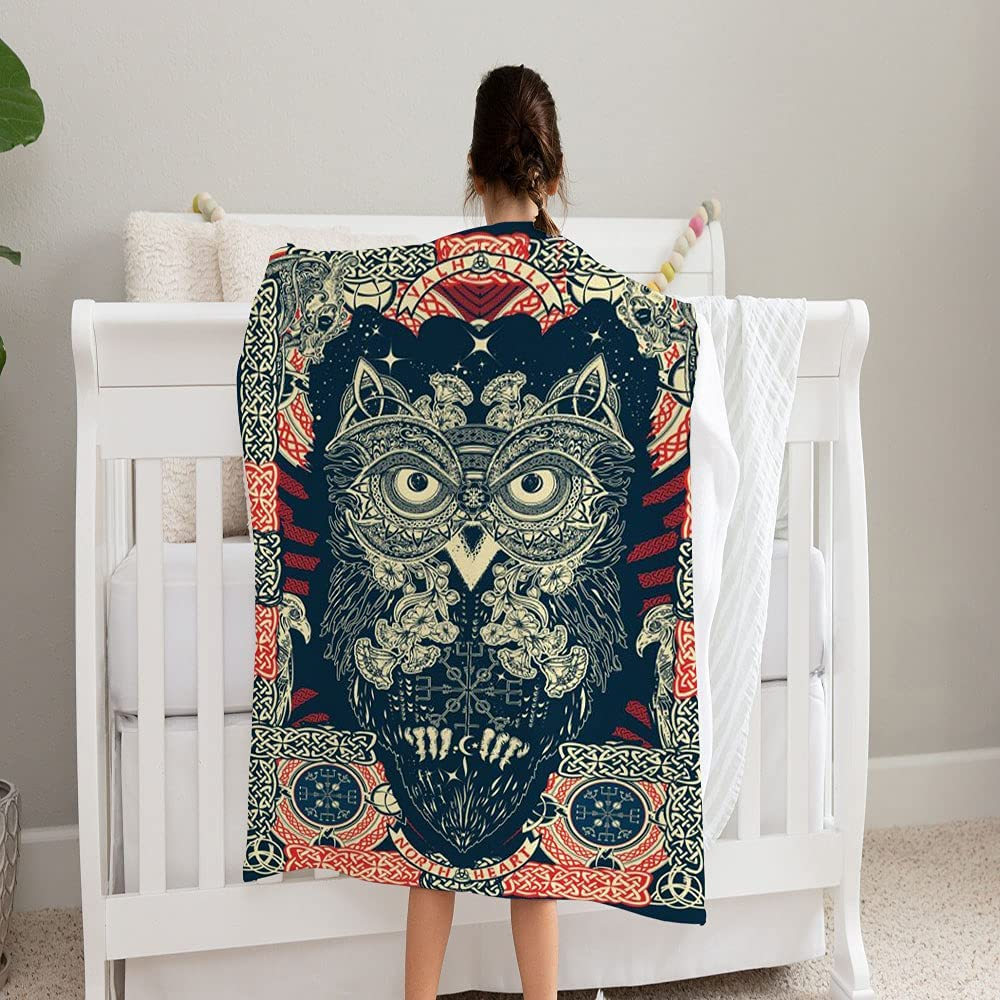 LPVLUX Owl Northern Mythology Blanket Fleec Same day shipping Super and Cozy Soft Chicago Mall