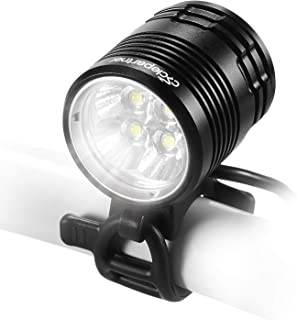 CYCLEPARTNER Discovery-3000 4LED Ultra Powerful 3000 Lumens Mountain Bike Light for MTB with 8800mAh Battery Pack – Up to 7 Hours IP65 Waterproof