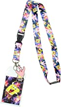 Spongebob Squarepants ID Lanyard with Detachable Badge Holder, Patrick Charm, and Collectible Sticker