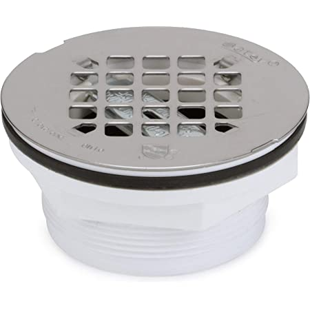 Oatey 42099 2 in. 101 PNC PVC No-Calk Shower Drain with Stainless Steel Strainer, 2