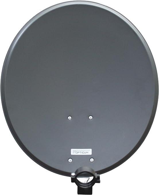 Opticum QA 60 de Acero Antena parabólica (60 cm) de Color Gris Claro