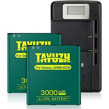 3500mAh Extra Standard Li-ion Battery External Dock Wall USB Charger for Samsung Galaxy J3 SM-J320R Android Phone Samsung Galaxy J3 Combo Pack