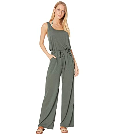 BECCA by Rebecca Virtue Breezy Basics Twist Back Jumpsuit Cover-Up (Basil) Women